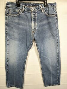 LEVI'S Big Mens Med Wash 505 High Rise Regular Fit Straight Leg Jeans size 40X29