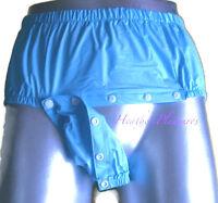 Adult Diaper Cover Waterproof Noisy Plastic Pants  Nappy L XL XXL BLUE Baby ABDL