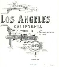 Los Angeles, California~Sanborn Map© sheets~96 maps~1953 on Cd~color~Pdf siles