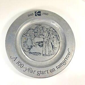 Kodak Metal Pewter Plate 100-Year Start On Tomorrow 1880-1980 Photography Decor