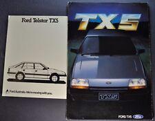 1984 Ford Telstar TX5 Brochure + Data Sheet Excellent Original 84 Australian
