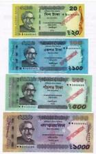BANGLADESH SPECIMEN BANK NOTES- 1000, 500, 100 & 20 TAKA- UNC-  signed ATIUR
