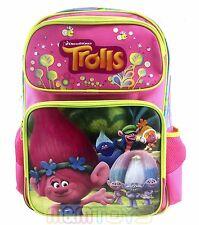 "New Dreamworks Trolls Poppy & Friends 16""  Large School Backpack Book Bag"