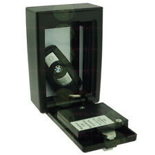 Wall Mount Lockbox for Key Fob or Card Storage 4 Digit Lock Box with Hinged Door