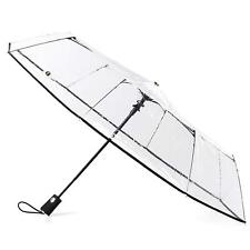 totes Clear Canopy Automatic Open Foldable Umbrella - 8415