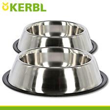 2 x Hundenapf Napf Futternapf Fressnapf Futterbar Edelstahl à 700 ml