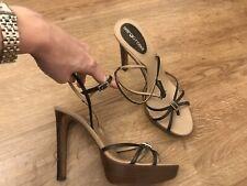 Sergio Rossi Platform Leather Strappy Sandals Summer Sexy 37.5 4.5