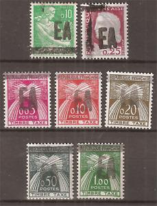 Algérie timbre taxe** surchargés manuellement EA