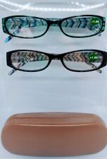 2 Pairs Reading Glasses with Case :: +1.50 Readers