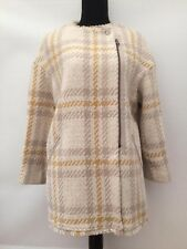 Womens BNWT RRP £169.99 New Mango Check Wool Coat Jacket  Size M Fits 10/12/14