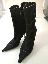 BCBGirls Suede Stretch Boots Black  8.5 (Eur size: 38.5)