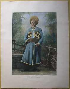 ca.1895 French photochrom CHERKESS (CIRCASSIAN) (#228)