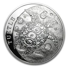 2014 New Zealand Mint $2 Niue Hawksbill Turtle Taku 1 oz .999 Silver Coin