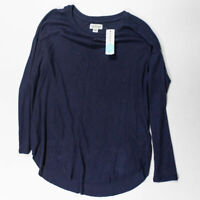 NEW Velvet By Graham And Spencer Myla Long Sleeve Cozy Rib Top Shirt Blouse LG