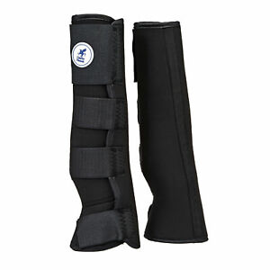 Derby House Pro Neoprene Horse Boot Turnout Wraps - Black All Sizes