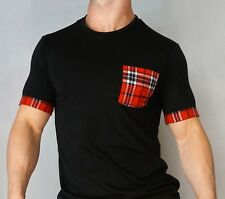 MEN'S PLAID T-shirt Size ADULT SMALL