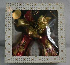Handbemalt Red Bell ornaments original box