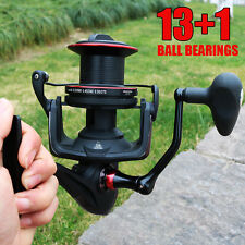 Shot Saltwater Spinning Fishing Reel 13+1BB with Extra Spool Surf Casting Reels