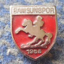 SAMSUNSPOR KULUBU TURKEY FOOTBALL FUSSBALL SOCCER 1980's ENAMEL PIN BADGE