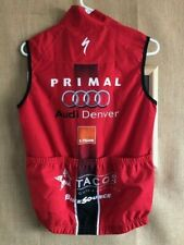 NWT Primal Cycling Men's size Small Wind Vest Audi red polyester front zipper