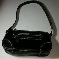 Liz Claiborne Villager Purse Hand Bag Snap Closure Inside/Outside Zipped Pockets