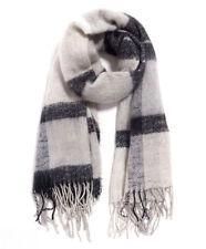 Gina Tricot 75124 Hanna Tuch Halstuch Schal mit Fransen beige schwarz