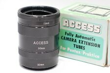 Pentax M42 mount fit Access Macro extension tubes for M42 camera lens, Boxed