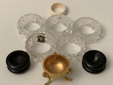 9 Assorted Decorative Egg Stands • 5 Crystal, 1 Metal, 2 Look Like Wood, 1 =?