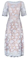 Monsoon Scarlett Light Blue Lace Floral Party Dress Size 12 Bnwt Special Occasio