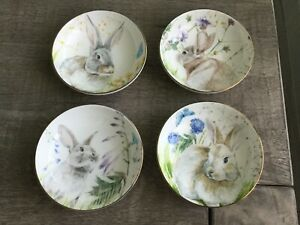 NEW SET/4 Williams Sonoma Floral Meadow Dip Bowls Spring/Easter