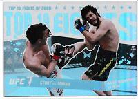 Sam Stout Matt Wiman 2010 Topps UFC Main Event Top 10 Fights Of 2009 Card # 21