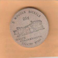 (N) Token - Frankenmuth, MI - Country Store - Wooden Nickel - 38 MM Wood