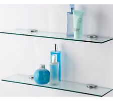 New Stylish Clear Glass Shelves - Pack of 2 for your Bathroom