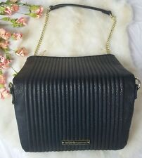Bcbg BCBGeneration Purse clutch black gold chain handbag