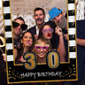 16/30/40/50/60th 21st Happy Birthday Frame Photo Booth Props Paper Party Supply