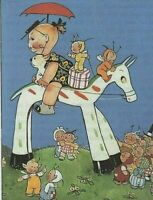 MABEL LUCIE ATTWELL CHARMING ORIGINAL BOOK PRINT FROM 1990's The wooden Horse