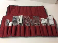 Wolfgang Puck 12 Piece Prep & Garnish Set Case Red Stainless Steel