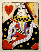Gothic Queen Of Hearts Art Print