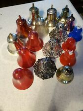 Lot of 17 Vintage Bradford and other Plastic Bells Christmas Ornaments