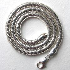 """Cadena serpiente italiano de plata esterlina sólida, ancho 5mm, longitud 16"""""""