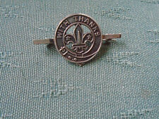 VINTAGE BOY SCOUTS SCOUT WITH THANKS - HALLMARKED SILVER PIN BADGE