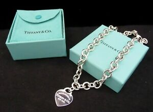 Vintage Tiffany & Co. Sterling Silver Please Return to Tiffany Necklace - 16in