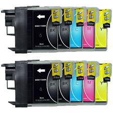 10 Tinte für Brother DCP195C 165C 145C 375CW 385C 585CW MFC250C LC980 LC1100
