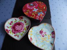 Pip studio 2 Herzteller Teller Herz big flower, chinese rose blue NEU in OVP rar