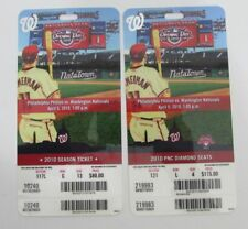Pair of 2010 Washington Nationals Opening Day UNUSED Tickets 128030