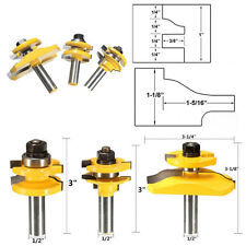 "3 Bit Raised Panel Cabinet Door Router Bit Set - 1/2"" Shank Woodworking Cutter"