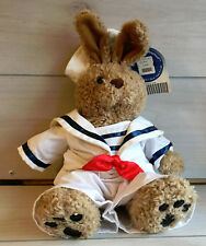 """A2 Build Bear Curly Bunny Sailor Outfit Plush! 15"""" Stuffed Toy Lovey Clothes"""