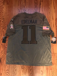 NIKE NFL SALUTE TO SERVICE JULIAN EDELMAN FOOTBALL JERSEY - XL - $170