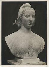 PHOTOGRAPHIE, BUSTE DE MARIANNE, SCULPTEUR PIERRE POISSON 1933