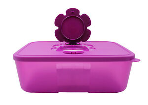 Tupperware Dark Purple Tissue Clean Up Container Box 1.5L Limited Release